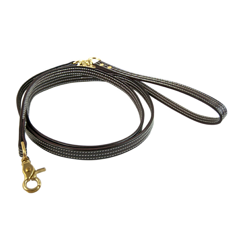 Walsh British Leather Dog Leash Havana