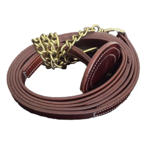 Walsh Stallion Leather Lead Chestnut