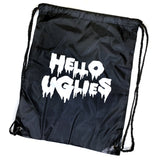 """HELLO UGLIES"" DRAWSTRING BAG"