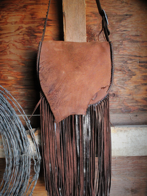XL Fringe Saddle Bag