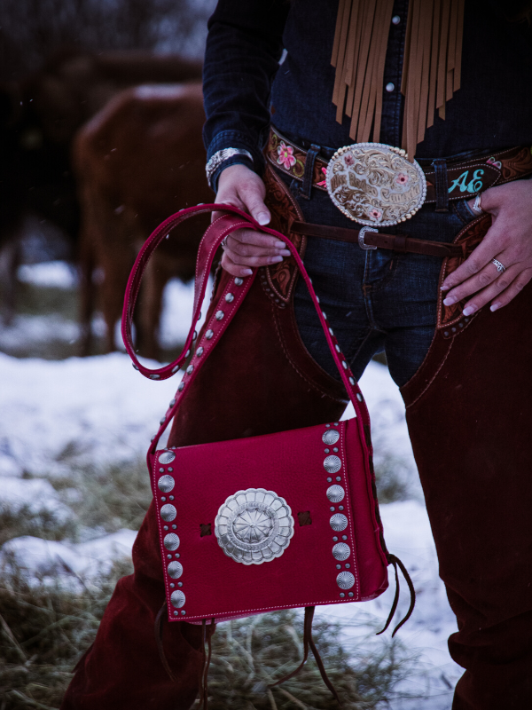 Handmade western crossbody purse