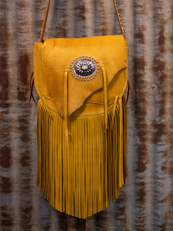 Handmade western leather saddle bag