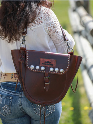 Handmade western leather purse