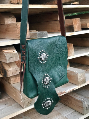 Raw Edge Crossbody Bag