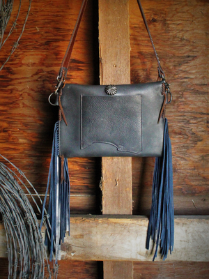 Raw Edge Crossbody Clutch