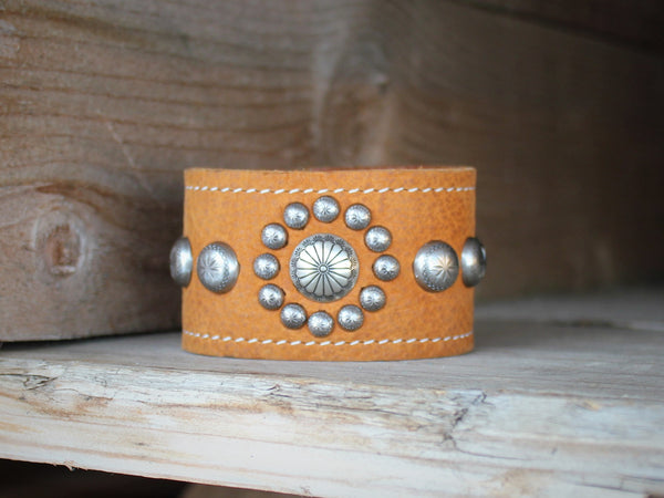 Handmade western leather cuff