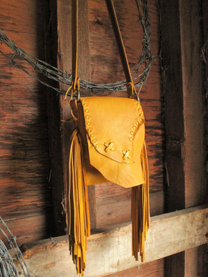 Raw Edge Crossbody Mini Purse