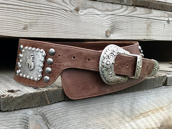 Handmade western leather belt