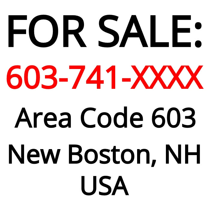 New Boston, NH : 603-741-XXXX