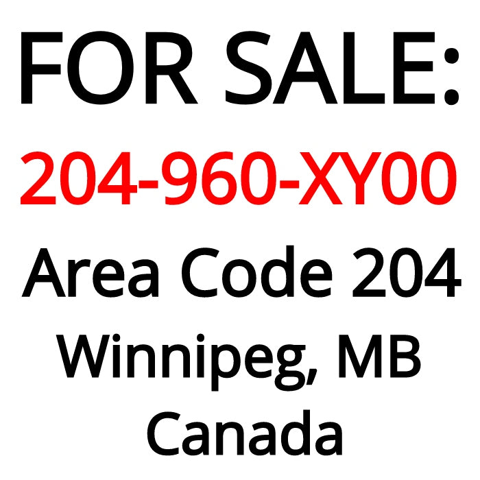 Winnipeg, MB : 204-960-XY00