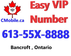 VIP 613-55X-8888 Phone number from Bancroft Ontario