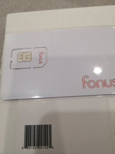 Fonus Mobile SIM Card with Unlimited Data and Free Roaming in USA Canada Mexico