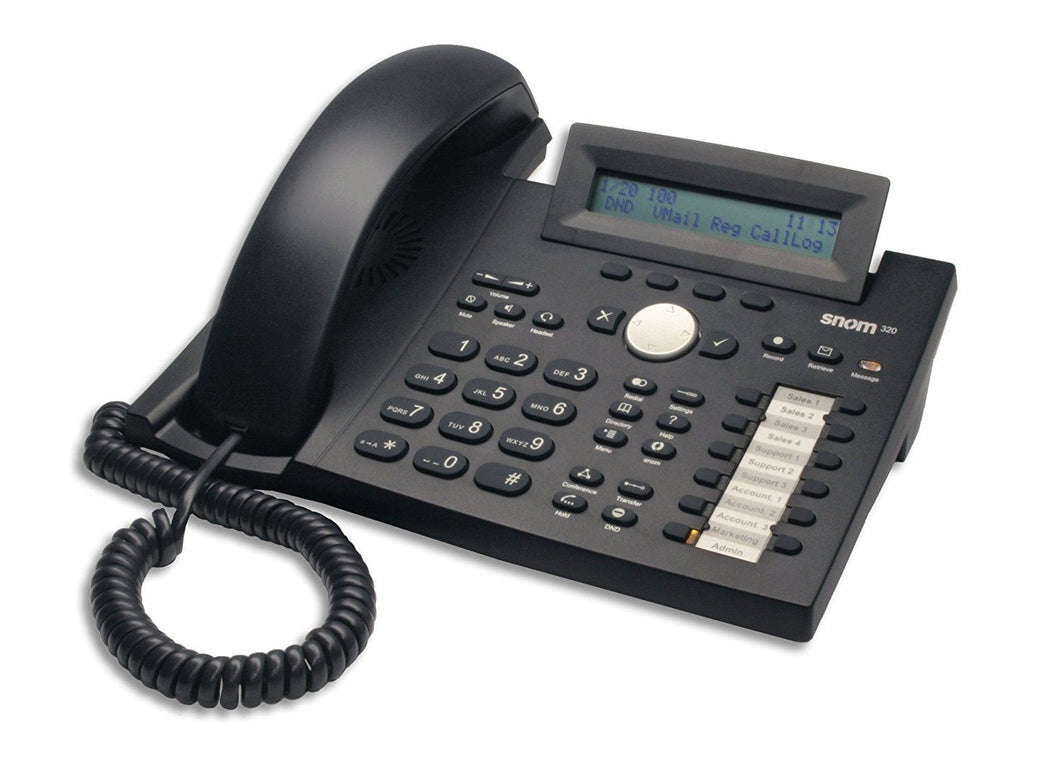 Unlocked Snom 320 IP Phone with 2 Line Display and POE   (Used &  Tested)