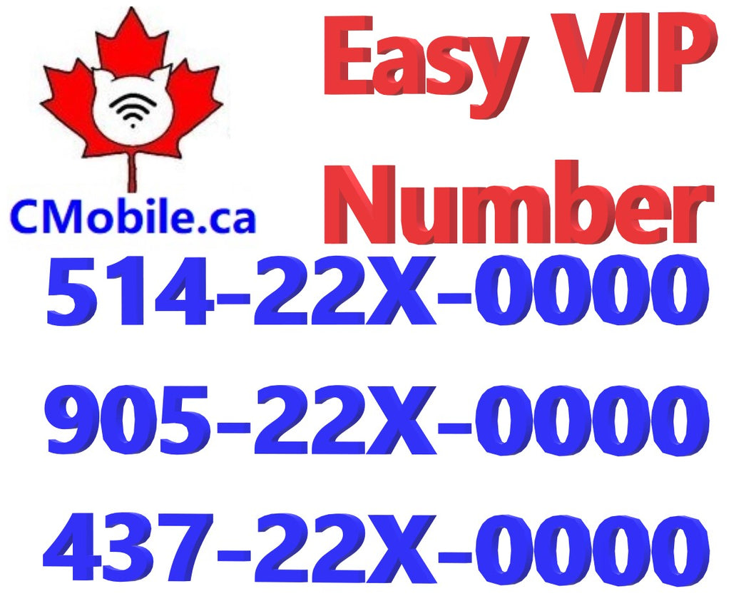 THREE Gold VIP Business Phone number  end with  22X-0000 for for Toronto & Montreal