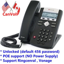 Unlocked Polycom SoundPoint IP 335 IP Phone for RingCentral, Vonage, Asterisk