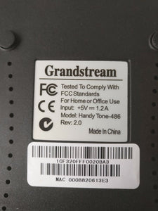 New & Unlocked Grandstream Handytone HT-486 VoIP router with 1 FXS + PSTN port