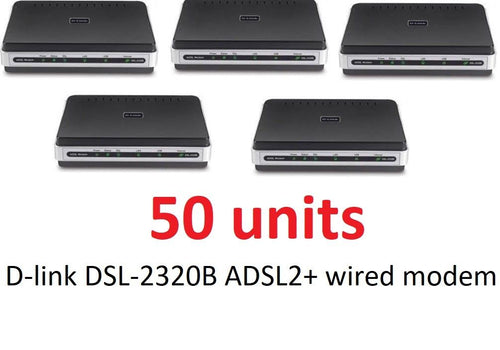LOT of 50 D-Link DSL-2320B ADSL2+ DSL Modem AT&T Verizon