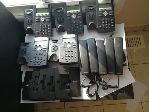 ( Used ) Lot of 5 Unlocked Polycom SoundPoint IP 335 IP Phone for RingCentral & Vonage