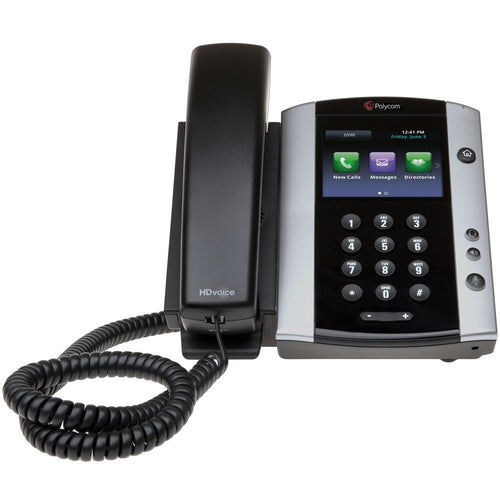 Polycom VVX500 SoundPoint IP Phone for Ringcentral or Vonage with Power Supply