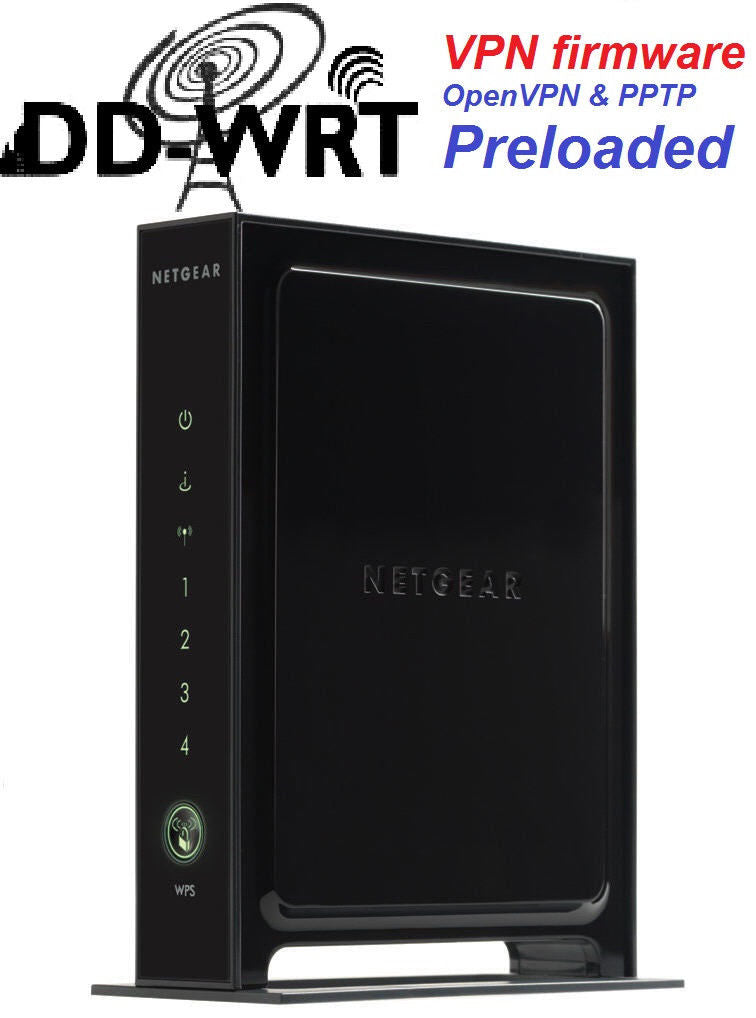 Netgear WNR3500L Wireless N Gigabit Router with DD-WRT VPN firmware preloaded