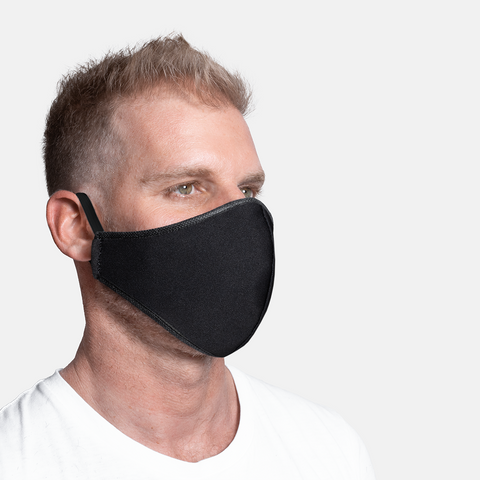 Formal - Black Plain 3ply Mask S/M/L/XL