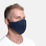 Formal Print - Navy Plain - 3ply Mask sizes S/M/L/XL