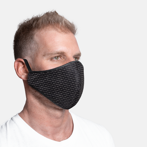 Formal Print - Black Dash - 3ply Mask sizes S/M/L/XL
