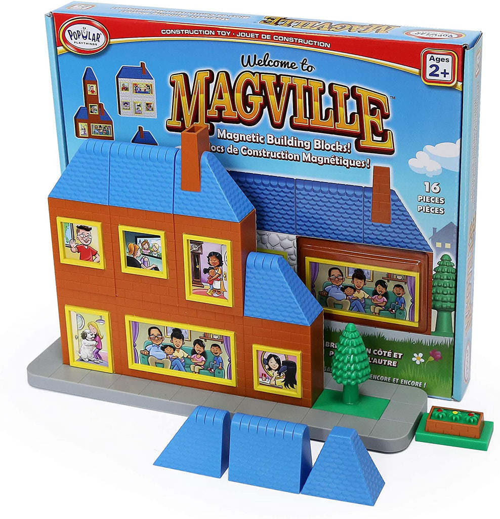 Popular Playthings- Welcome To Magville Magnetic Building Blocks