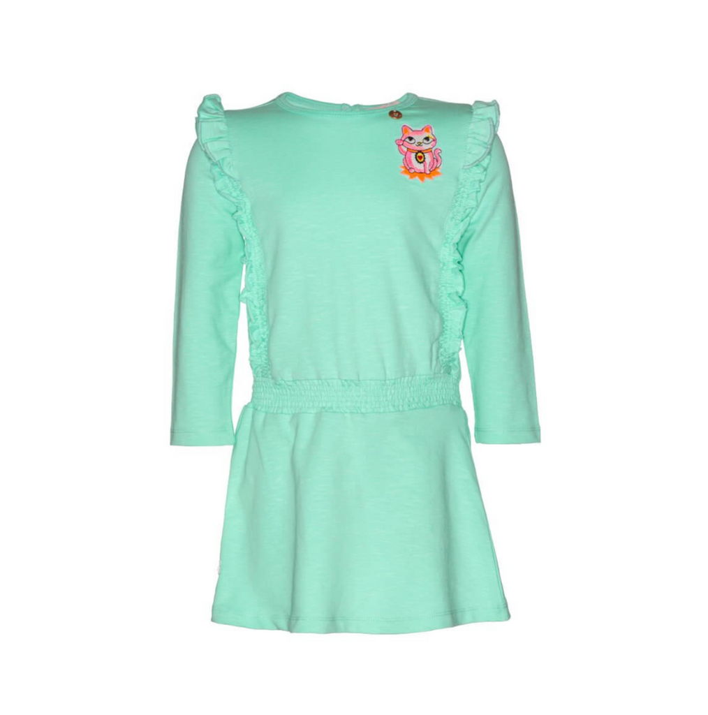 MIM-PI - Cat Dress Green