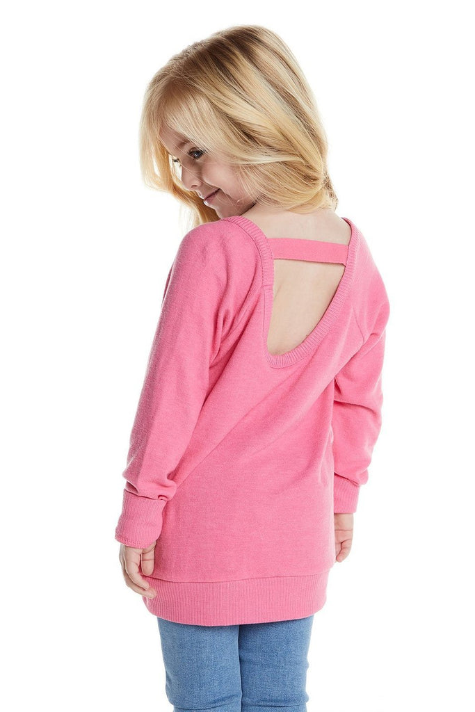 Chaser- Long Sleeve Scoop Back Pink