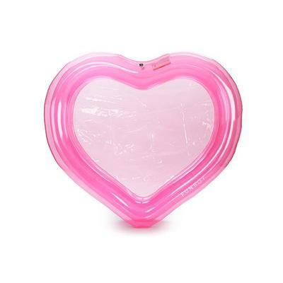 Clear Pink Heart Inflatable Pool