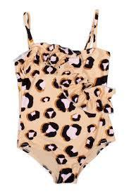 Leopard Ruffle 1PC Swimsuit