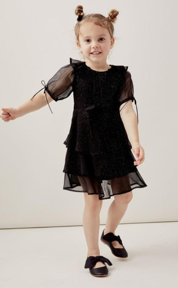 LIL LEMONS - Black Priscilla Dress