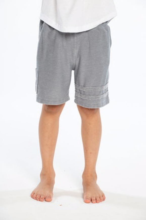 CHASER -  Cozy Knit Cargo Shorts Flax