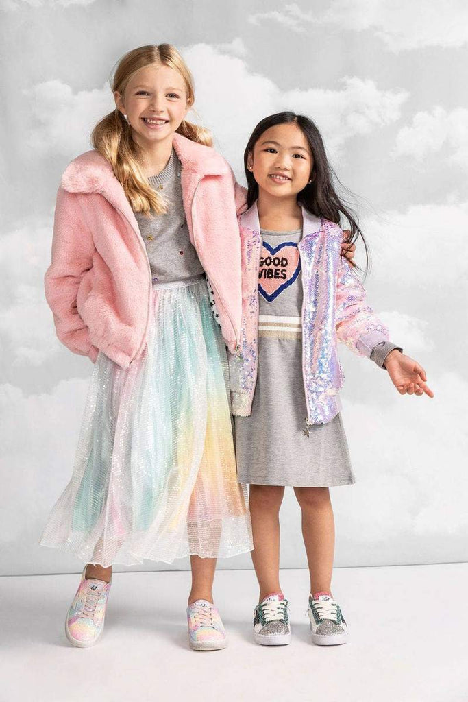 LOLA + The Boys - Rainbow Faux Fur Coat