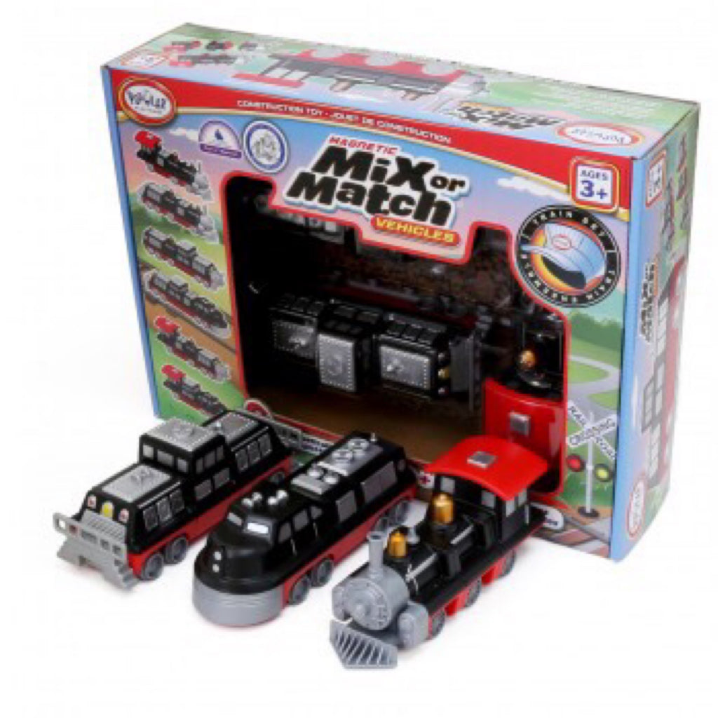 Popular Playthings- Magnetic Mix or Match Vehicles Train Set