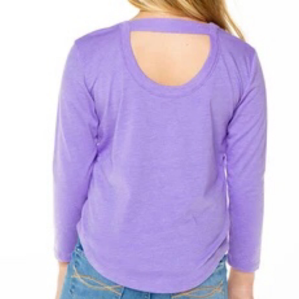 CHASER - Girls Long Sleeve Purple Back Swoop