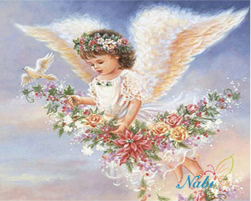 Flowery Angel Full Square Diamond Painting