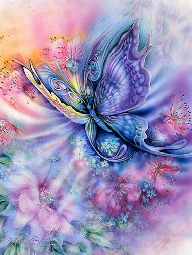 Butterfly & Flower Art Full Square Diamond Painting