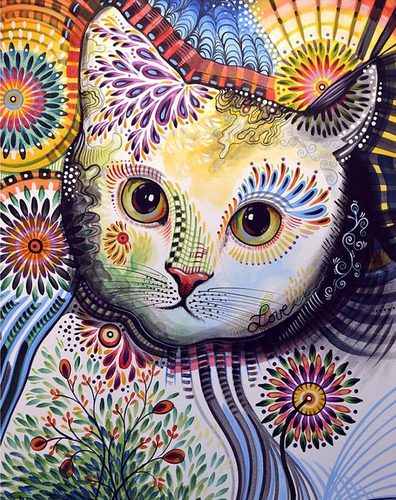 Fancy Cat Full Square/Round Diamond Painting