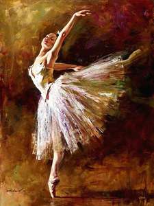 Ballet Lady Full Square Diamond Painting