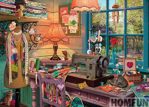 Sewing Shop Full Diamond Painting