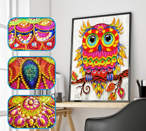 Special Shape Owl Partial Diamond Painting