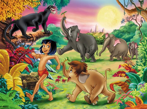 Tarzan & Friend Full Round Diamond Painting - Kids Kit