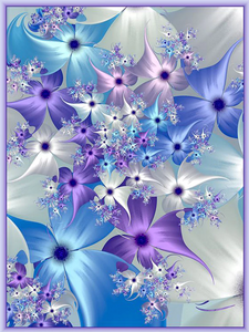Purple Flower Full Diamond Painting