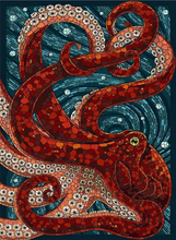 Octopus Full Square Diamond Painting
