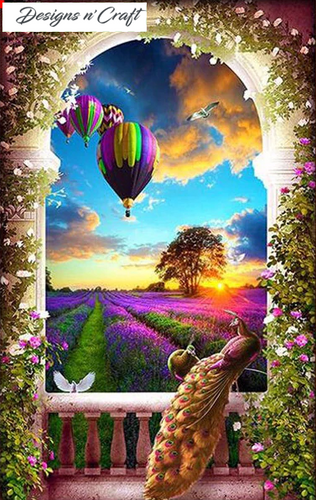 Sunset Air Balloons Full Drill Diamond Painting