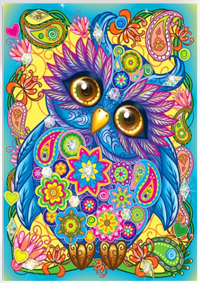 Lovely Owl Special Shaped Diamond Painting