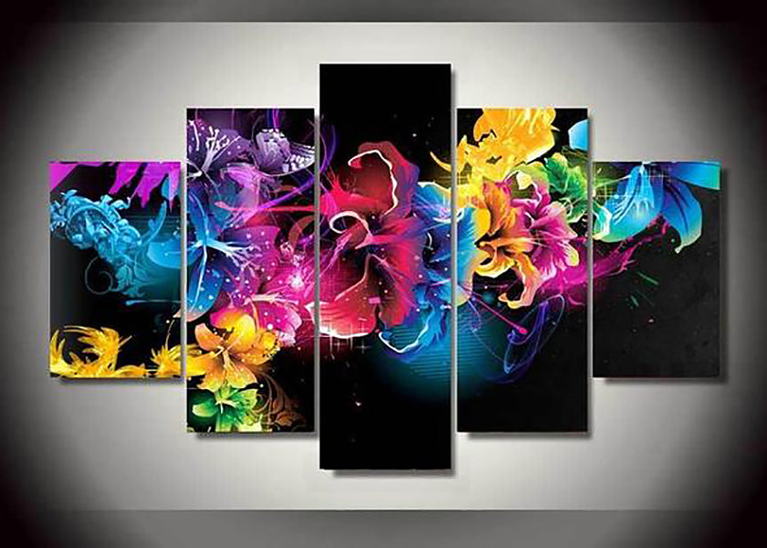 Flower Multi-Panel 5D Diamond Painting