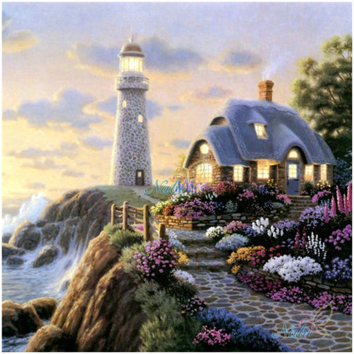 Lighthouse Scenery Full Square Diamond Painting